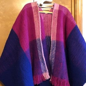 Authentic Vintage 100% Wool Wrap from Peru